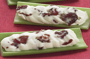 Creamy Cranberry-Stuffed Celery