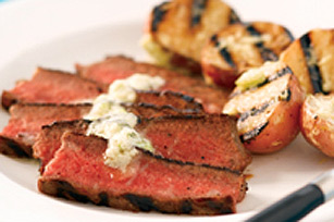 Chicago-Style Steak with Blue Cheese Butter