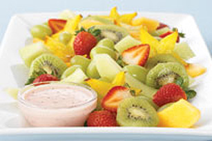 Salade de fruits aux graines de pavot