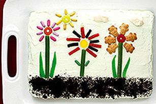 Gâteau « jardin du printemps » Image 1