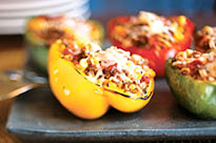 Tri-Colour Stuffed Peppers