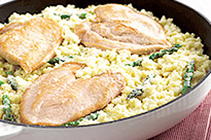 15 Minute Chicken and Asparagus Risotto