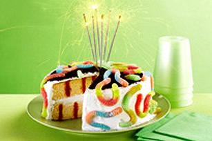 Gâteau d'anniversaire à trous « Survivor »