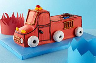 Gâteau d'anniversaire camion de pompier Image 1