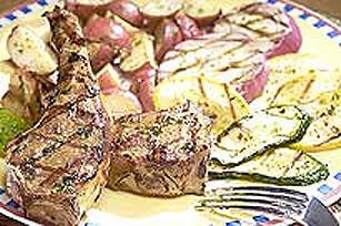 Côtelettes d'agneau au barbecue à la vinaigrette balsamique et à la menthe Image 1