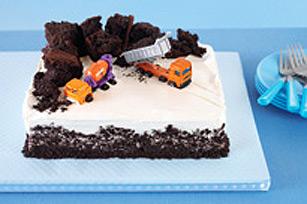 Gâteau d'anniversaire chantier de construction
