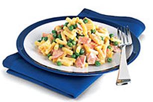 Souper simple au macaroni et au jambon