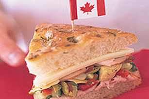 Turkey and Vegetable Focaccia Sandwich
