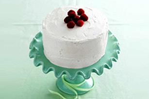 Gâteau au chocolat blanc et aux framboises