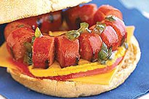 Burger à la saucisse fumée Image 1