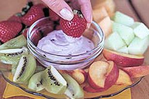 Trempette aux bleuets avec fruits Image 1