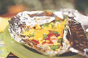 Souper de maïs et jambon au fromage en papillote Image 1