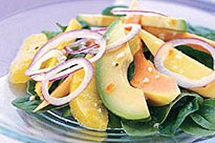 Salade hawaïenne à l'avocat et à la papaye