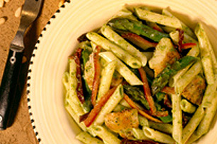Penne Asparagus Salad With Parsley Pesto