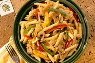 Penne au poulet et aux légumes