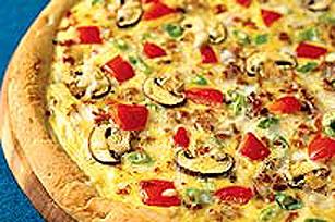 Pizza au bacon et aux œufs