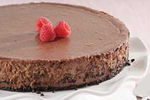 Gâteau au fromage truffé au chocolat