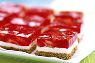 Carrés aux fraises et aux bretzels