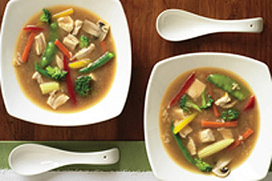 Soupe au poulet asiatique rapide Image 1