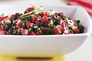 Salades de betteraves et de haricots