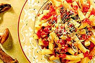 Pâtes aux tomates et aux deux champignons Image 1