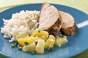 Salsa printanière tropicale avec porc