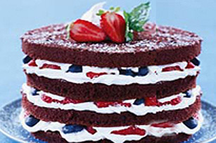 Layered Chocolate Berry Cake