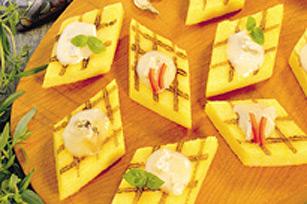 Carrés de polenta grillés avec brie Image 1
