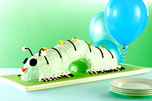 JELL-O Swirled Caterpillar Cake Image 1