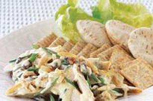 Salade crémeuse de poulet au cari