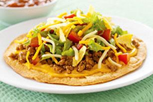 Tostadas taco à la salade