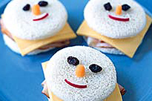 Snowman Face Sandwich