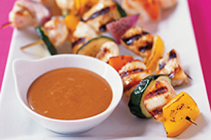 Chicken Kabob Dippers with Creamy BBQ Sauce