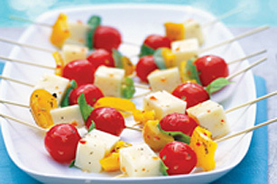 Roasted Pepper and Basil Skewers Image 1