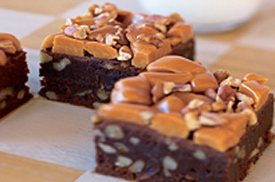 One Bowl Caramel Pecan Brownies
