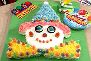 Gâteau de fête clown