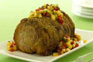 Grilled Pork Loin with Pineapple Salsa Image 1