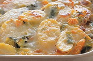 Gratin de poireau et patates douces Image 1