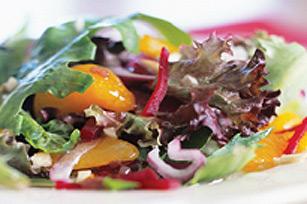 Salade de mesclun et de betteraves