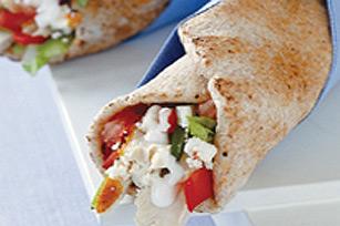 Poulet à la grecque dans un pain pita Image 1