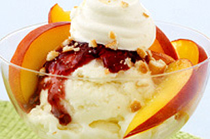 Peach Melba Icy Delight Image 1