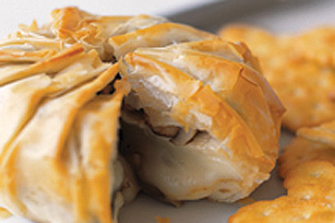 Phyllo-Wrapped Baked Brie with Mushrooms Image 1