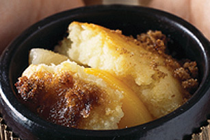 Peaches and Brandy Pudding