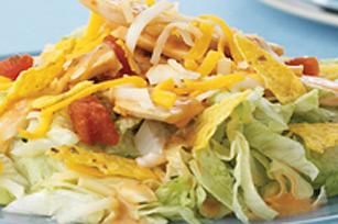 Salade-repas taco au poulet