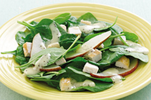 Chicken, Pear & Spinach Salad
