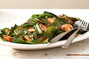 Salade d'épinards chaude