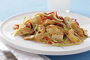 Salade croquante au poulet et aux graines de pavot