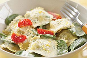 Creamy Spinach-Parmesan Ravioli