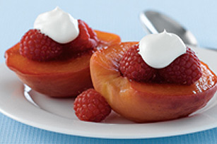 Blushing Peach Melba Dessert