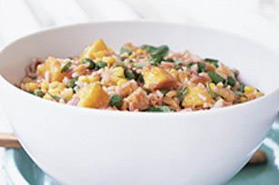 Rice 'n Peach Salad